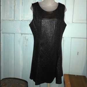 Young Threads black leopard dress, NWT